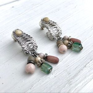 Robert Rose II Abstract Beaded Post Earrin…